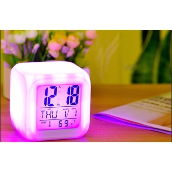 Baby Talk 7 Led Color Change Digital Glowing Alarm Thermometerclock ... 8e161756b8