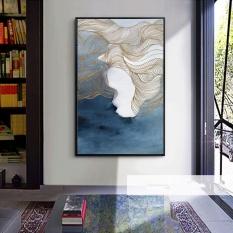 Dinding Seni Lukisan Cat Minyak Kanvas HD Mencetak Modern Abstrak Dekorasi Rumah Lukisan Gambar Unframed 60x120