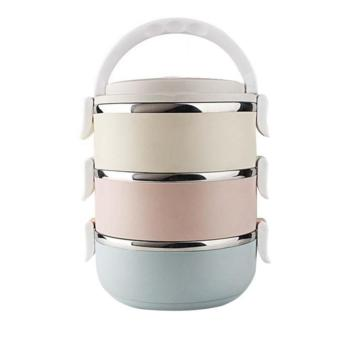 Dinemate Eco Lunch Box Stainless Steel Rantang 3 Susun - Glossy