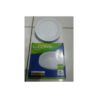 Downlight LED Bulat Outbow/Luar 12 Watt Licons LPS-512R