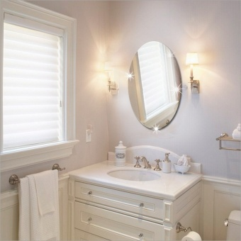 Pembelian Elliptical Mirror Wall Mirror Bathroom Background