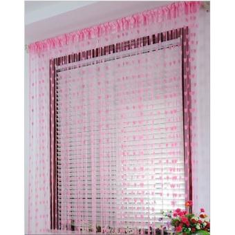 Emyli Tirai Benang Cantik Motif Love Korea Korean Style FashionDekorasi - Pink Muda