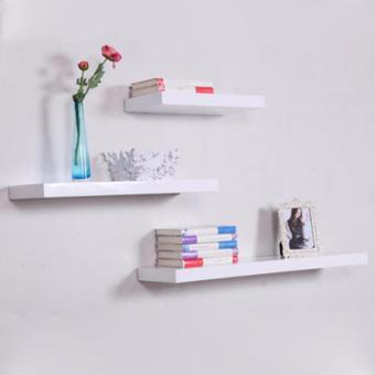 ... Floating Shelves 1 Set 3Pcs Rak Dinding Minimalis 40cm 30cm 20cm Promo