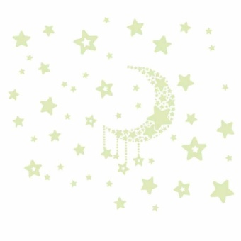 Fluorescence Glow in Dark Luminous Star Nursery Kid Baby Room WallSticker Decal - intl