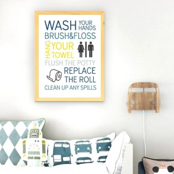 Frame Motivasi Wash Your Hands Brush & Floss (A-25)