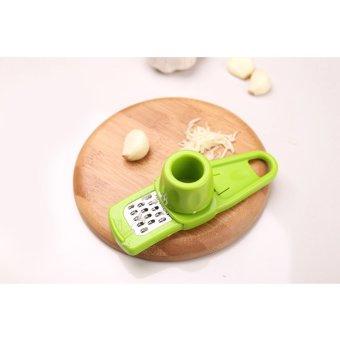 Gadget Dapur Rumah Tangga Penggiling Tumbuk Bawang Putih TekanKreatif Multifungsi Memotong Bawang Putih Jahe Peralatan RumahTangga Hijau - 4