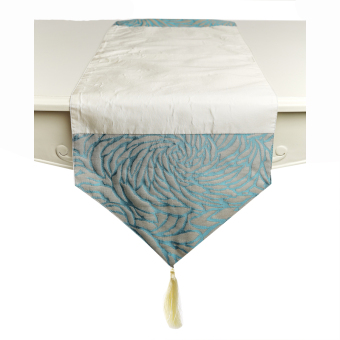 GH Home Ideas Taplak Meja / Table Runner 32cm x 160cm Zoe Rosse -Biru