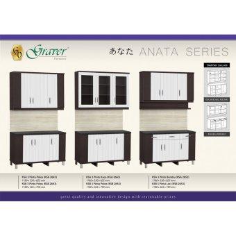 Detail Gambar Graver Furniture Kitchen Set Atas 3 Pintu KSA 2653 dan Variasi Modelnya