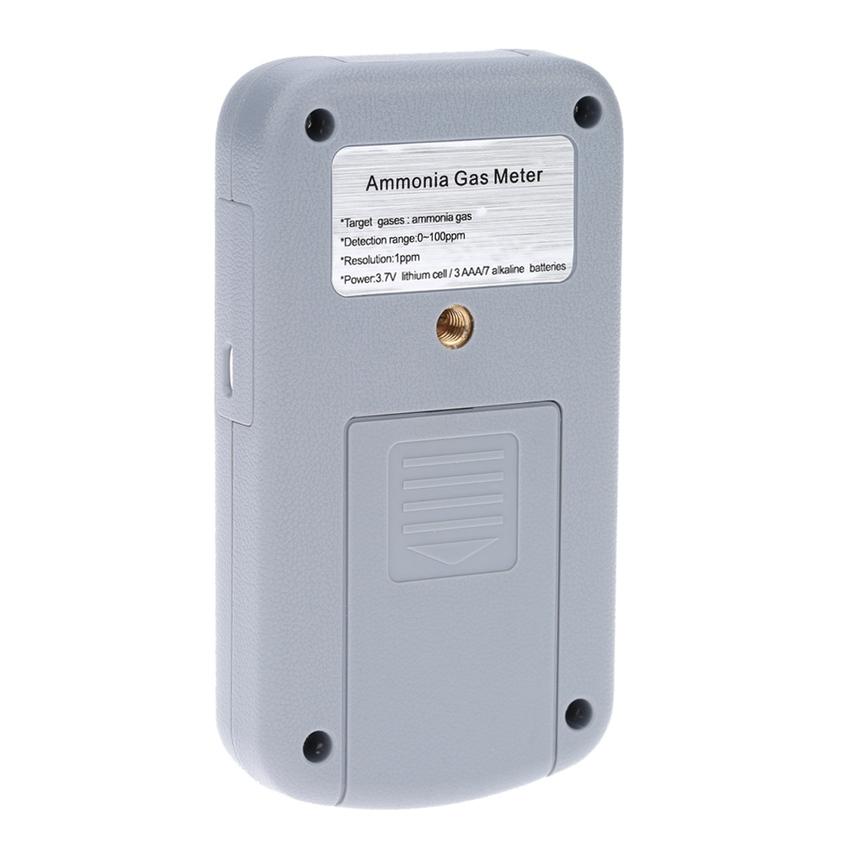 Handheld Professional Ammonia Gas NH3 Meter Detector TemperatureMeasurement LCD Display Alarm Value Settable .
