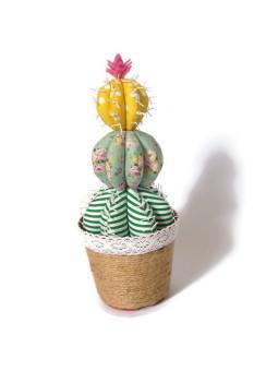 Happy Pelangi Craft Tanaman Kaktus Katun Bulat Beruas