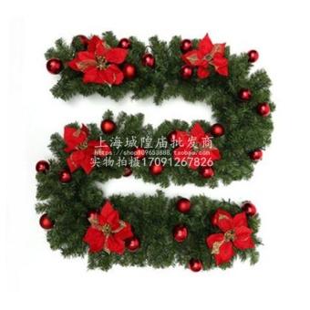 Hari Natal Bercahaya Sabuk Lampu Rotan Pohon Natal Bando Bunga Natal Rotan