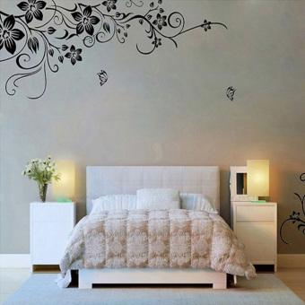 Detail Gambar Produk Hee Grand wall sticker vinil yang dapat dilepas stiker Seni Lukisan - bunga