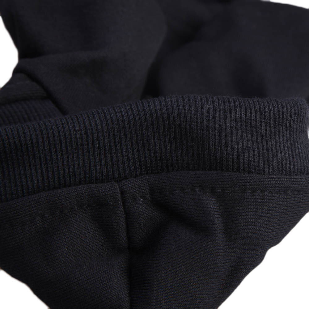 Hewan Peliharaan Anak Kucing Anjing Polisi Lapis Pakaian Baju Hoodie Sweater Hitam S .
