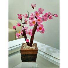 Hiasan Meja Bunga Sakura Mini Pink