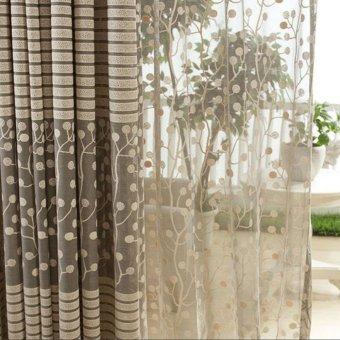 High-grade Jacquard tirai tabir gorden Curtain Jendela Windowscreening Hollow Breathable Bedroom living room Simple Co - 3