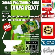 HOKI COD - Simba Degra Cairan Pembersih Septictank Solusi Murah - Septic tank & Mudah Untuk WC Mampet + Gratis Pulpen Lilin Unik Serba Guna Hitam Pekat - 2 Pcs