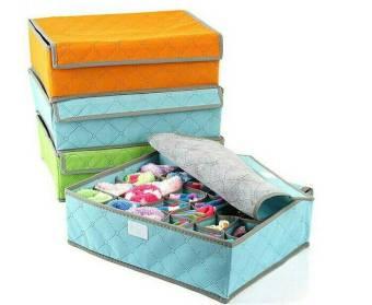 HOLYWINGS Underwear Storage Organizer box 24 BIRU