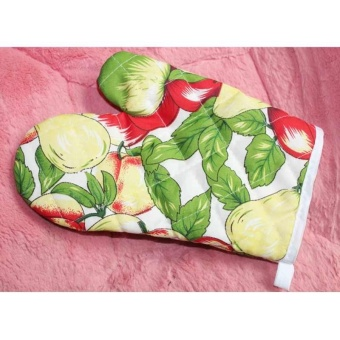 Hot Baking Microwave Oven Cooking Mitts Kitchen Heat ResistantCotton Glove - intl