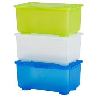 Best Seller 5 Buah Tutup Galon Anti Tumpah(tebal)biru. Ikea Gliss Box Dengan Tutup 3 Piece - Hijau Putih Biru