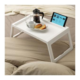 Ikea Klipsk Baki Lipat Meja Tempat Tidur - Putih - 2