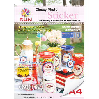 Harga Kertas Sticker - SUN Next Generation Glossy Photo Sticker 140 Gsm A4