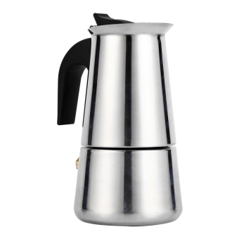 Harga Stainless Steel Percolator Moka Pot Espresso Coffee Maker Stove Home Office Use (100ml) - intl