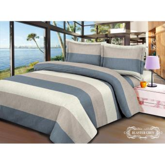 Harga V-Bed Bed Cover + Sprei SET 200x200x30 Extra King Size - Blaster Grey