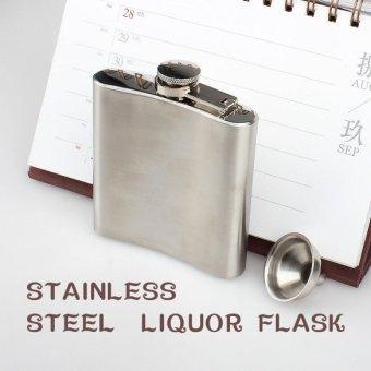 dari baja anti karat 170.1 G pinggul botol minuman keras alkohol wiski - Internasional