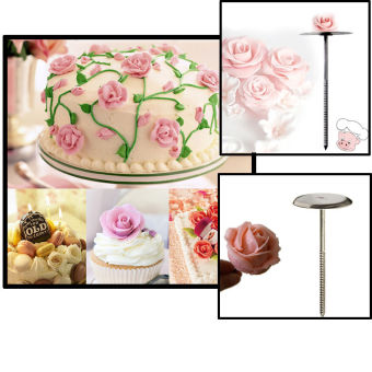 Harga Stainless Steel Cupcake Icing Cake Decorating Flower Needle DIY Wedding Party