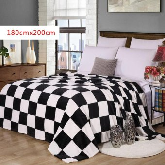 Harga USTORE Coral Fleece Fabric Super Warm Soft Blankets With Multiple Beauiful Patterns - intl
