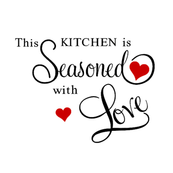 Harga Hequ This Kitchen Is Seasoned With Love Kitchen Wall Sticker