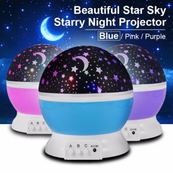 Harga XCSource Starry Night Light Romantic Colorful LED Star Moon Sky Rotating Projector LD726