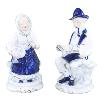 Harga OHOME Patung Porcelain EK-P-1504 Old Couple Set 2 PCS Pajangan Rumah Home Decor