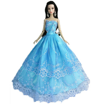 Harga OEM Wearing Blue Dresses Barbie Toys