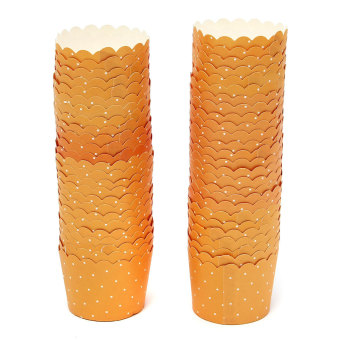 Harga 50Pcs Wedding Party Cupcake Cases Paper Cake Cup Liners Wrapper Muffin Mug Baking Orange- intl
