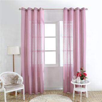 New Pure Sheer Screen Divider Door Window Tulle Curtain Blackout Curtains Tulle - intl