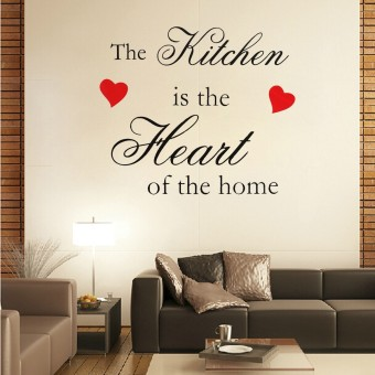 Wall Sticker The Kitchen Is The Heart Of The Home Wall Quote Vinyl