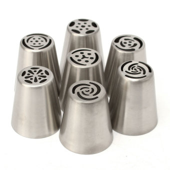 Harga 7Pcs Easy Flower Piping Cake Cupcake Icing Nozzles Tips Decoration Cooking Tools