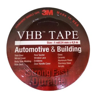 Harga 3M VHB Double Tape Automotive 4900 tebal 1.1 mm size 24mm x 4.5m - 1 Pcs - Merah