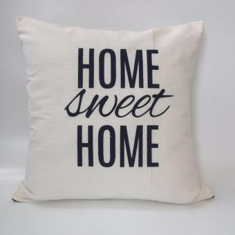 Harga Cushion Cover/Sarung Bantal - Home Sweet Home [ White ]