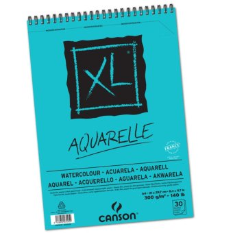 Harga 1 Buku - Canson XL Aquarelle Buku Kertas Gambar Lukis Watercolor Pad A4 Cat Air