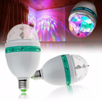 Harga Glow shop - LED Full Color Rotating Lamp - LED Mini Party Light Lampu Disko - 1 pc