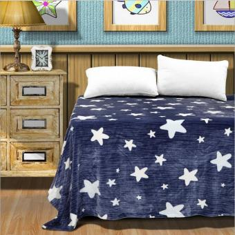 Harga Cute Stars Printed Flannel Blanket Portable Travel Blankets Thicken Warm Winter Sofa Mantas 150x200cm - intl