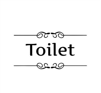 Harga CatWalk Wall Art Bathroom Toilet Door Sign Decoration Vinyl Wall Stickers Decor Decal (Black)