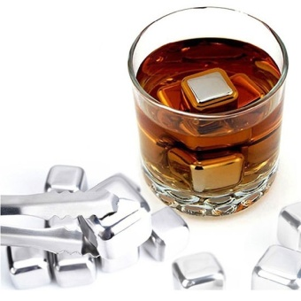 Harga Es Batu Stainless Reusable Stainless Steel Ice Cube 6Pcs