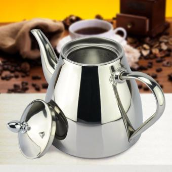 Harga 1 pcs 1.2L new style stainless steel Tea pot and Coffee Drip Kettle pot teapot with strainer stainless steel Kettle hot water for Barista - intl
