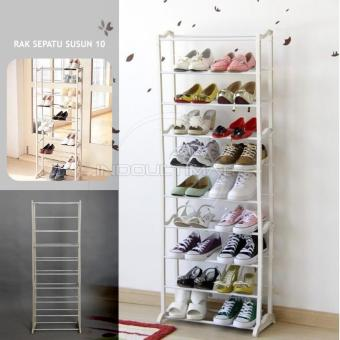 Harga Ultimate Rak Sepatu Sendal Susun 10 / Shoes Rack / Portable Shoe Rack TS-05
