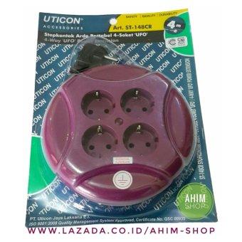 Harga UTICON® Kabel Box Roll 4M Stop Kontak Arde Portabel 4 Lubang + Steker (