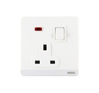Nero Decora Q71311VD W Saklar Listrik 1 Gang Switch Socket with Shutter and .