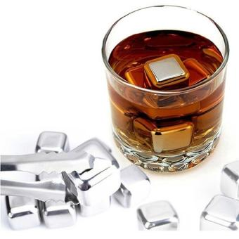 Harga Universal Reusable Stainless Steel Ice Cube 4Pcs / Es Batu Stainless